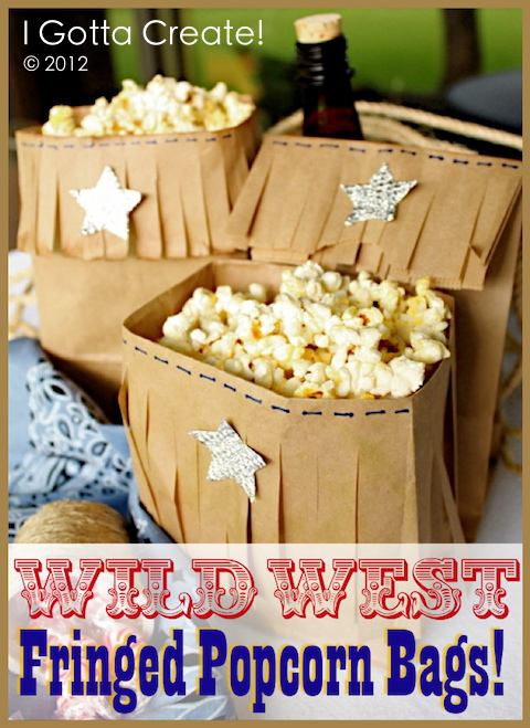 Wild West Fringed Popcorn Bags from I Gotta Create!