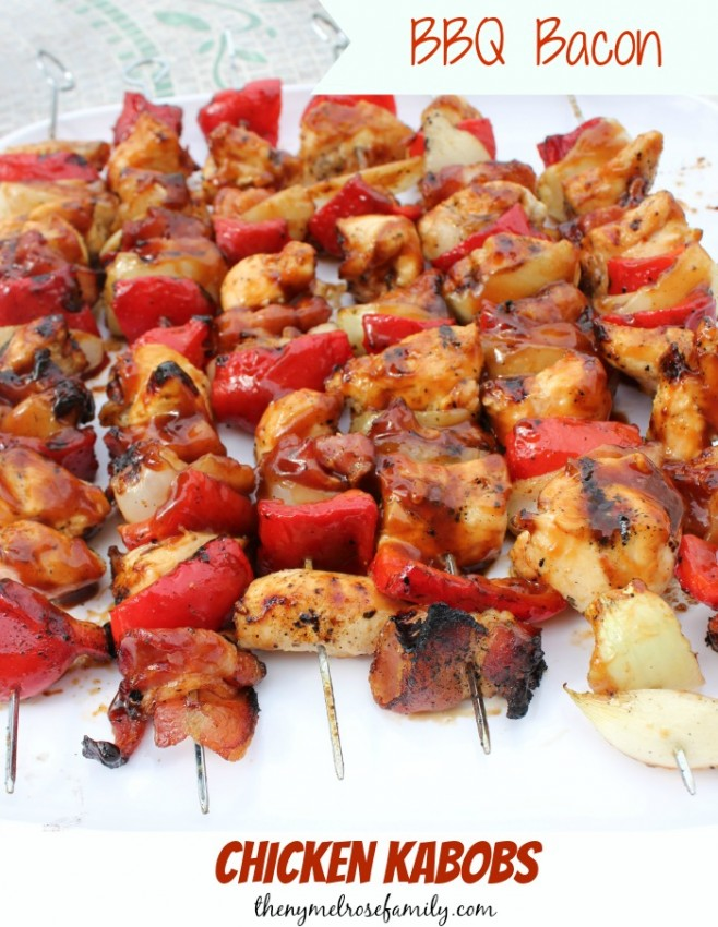 BBQ Bacon Chicken Kabobs from The NY Melrose Family