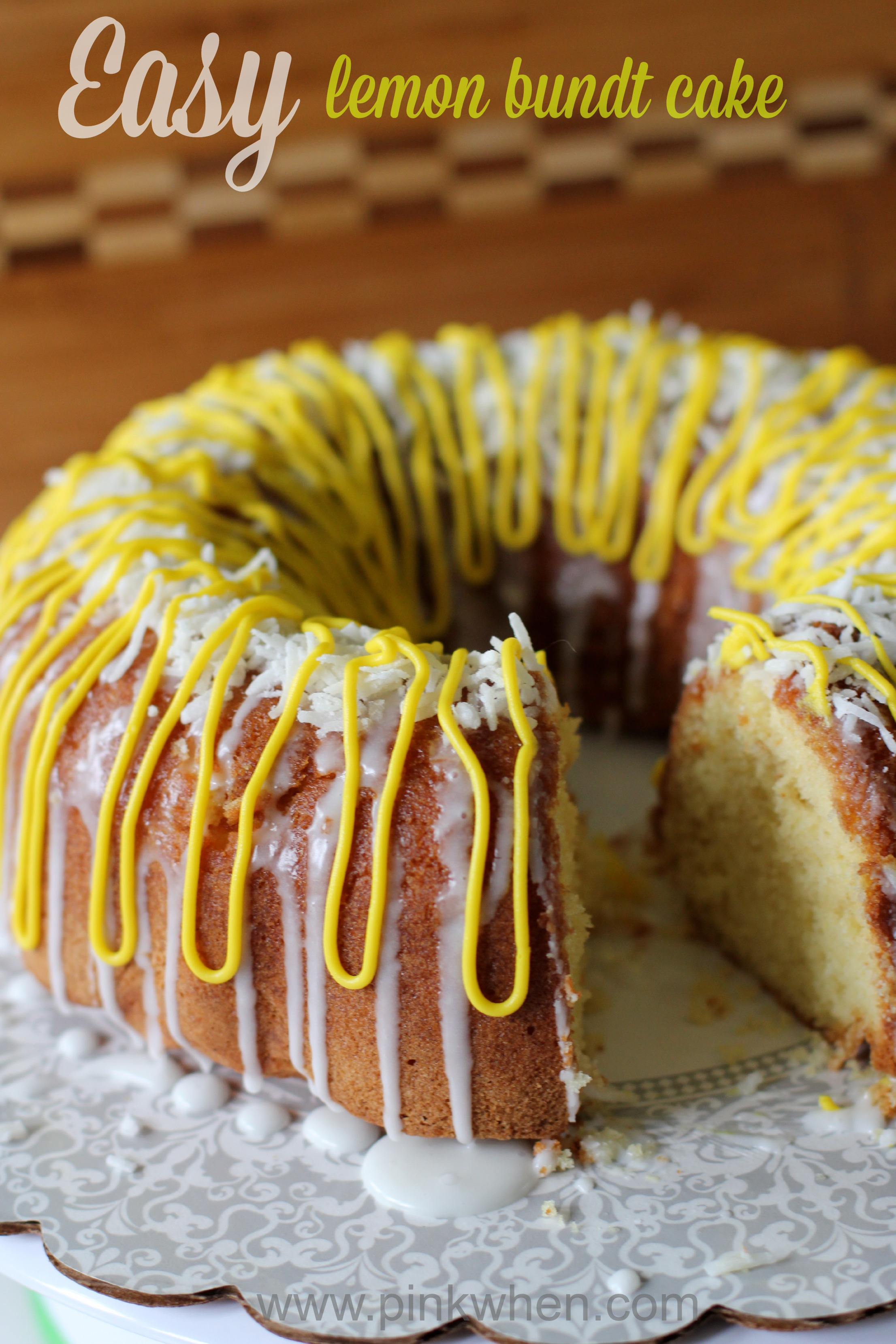 Easy Lemon Bundt Cake from PinkWhen