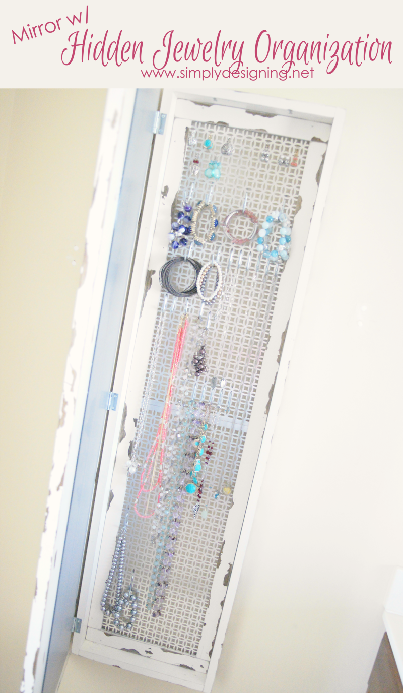 DIY Framed Mirror with Hidden Jewelry Organization from Simply Designing with Ashley
