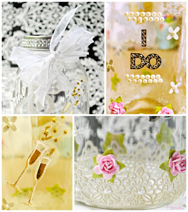 "Make a Wishes Mason Jar Bridal Shower Gift for the bride-to-be, filled with happy, written ""wishes."" From littlemisscelebration.com"