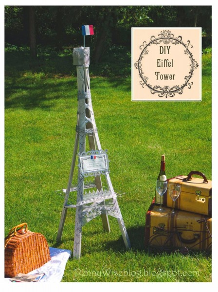 DIY Eiffel Tower from Garden Trellis from PennyWise