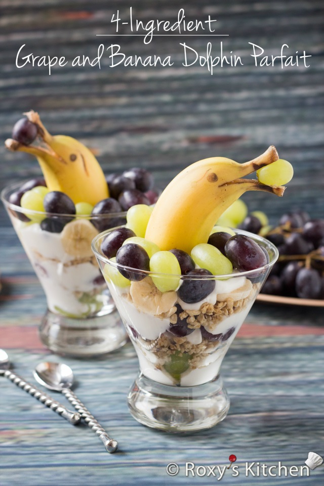 Grape and Banana Dolphin Parfait from Roxy's Kitchen