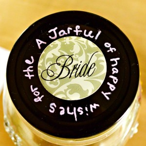 """Make a Wishes Mason Jar Bridal Shower Gift for the bride-to-be, filled with happy, written """"wishes."""" From littlemisscelebration.com"""