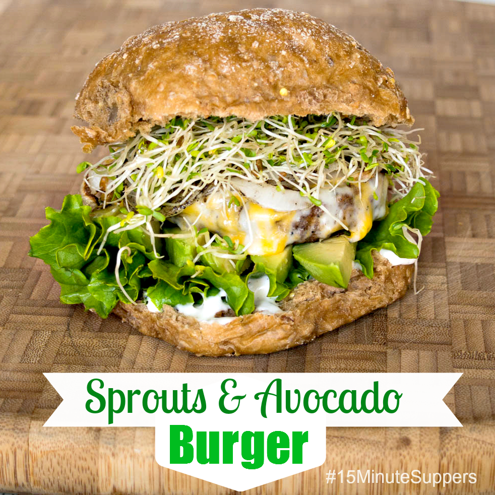 Sprouts and Avocado Burger from  Upstate Ramblings