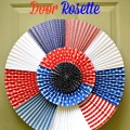 Make this DIY Patriotic Door Rosette and give your front door some big July 4th spirit! At littlemisscelebration.com