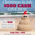 Win $500 Cash! Christmas In July Giveaway at Little Miss Celebration