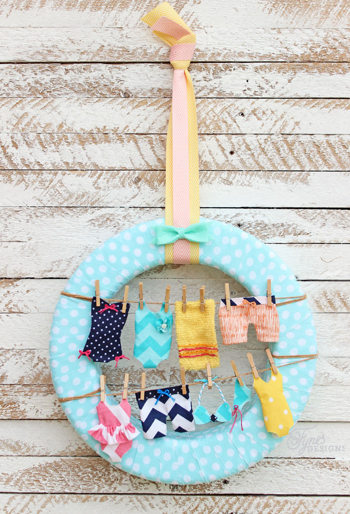 Summer Swimsuit Wreath from Fynes Designs
