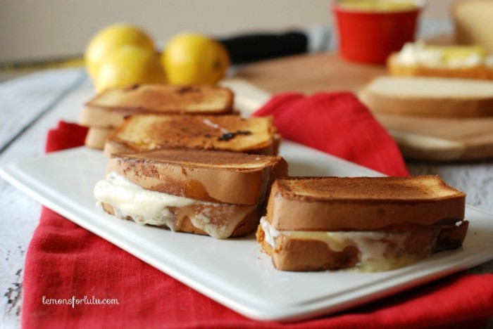 Lemon Curd & Mascarpone Grilled Cheese from Lemons for Lulu