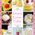 Lemon Lovers Unite! A round-up of lovely lemon treats by Cooking on the Front Burner for Little Miss Celebration
