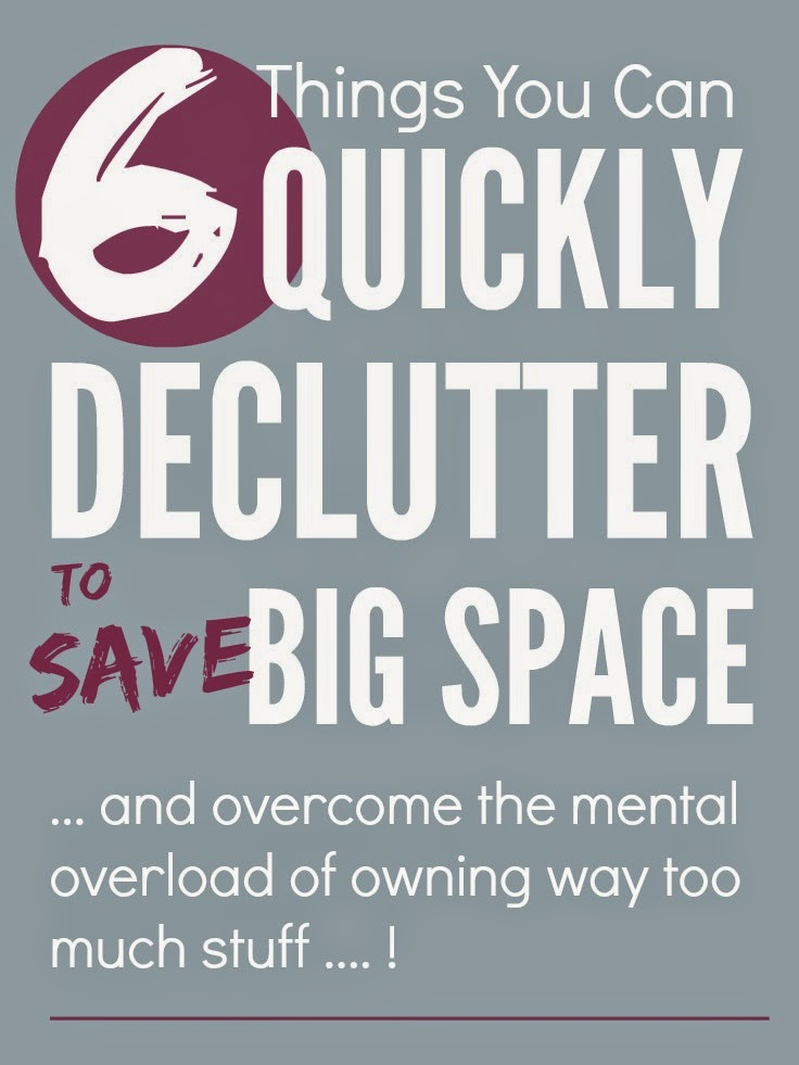 6 Things You Can Quickly Declutter to Save Big Space by Mums Make Lists
