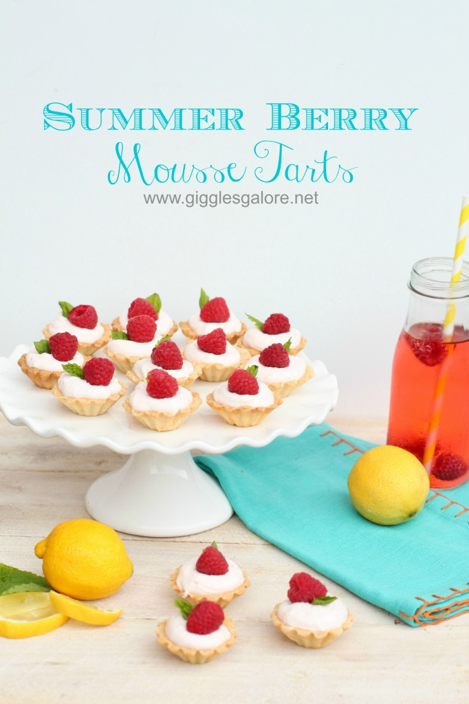 Summer Berry Mousse Tarts from Giggles Galore