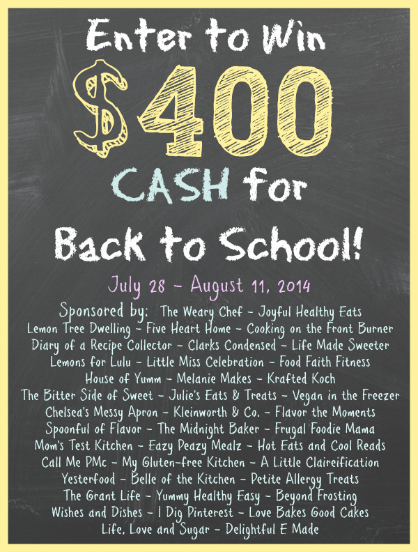$400 Cash for Back to School Giveaway!