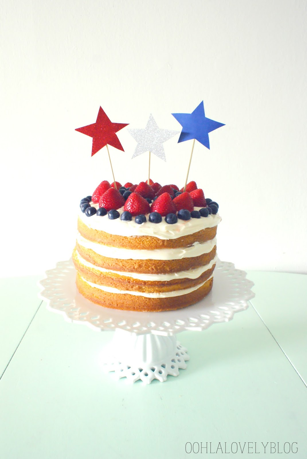 Naked for the 4th Cake from Ooh La Lovely