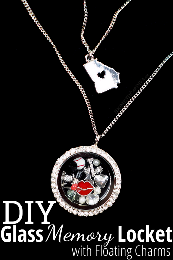 DIY Memory Glass Locket with Floating harms by The Domestic Diva