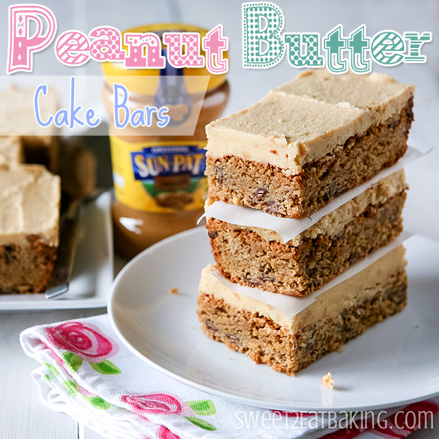Frosted Peanut Butter Cake Bars from Sweet 2 Eat Baking