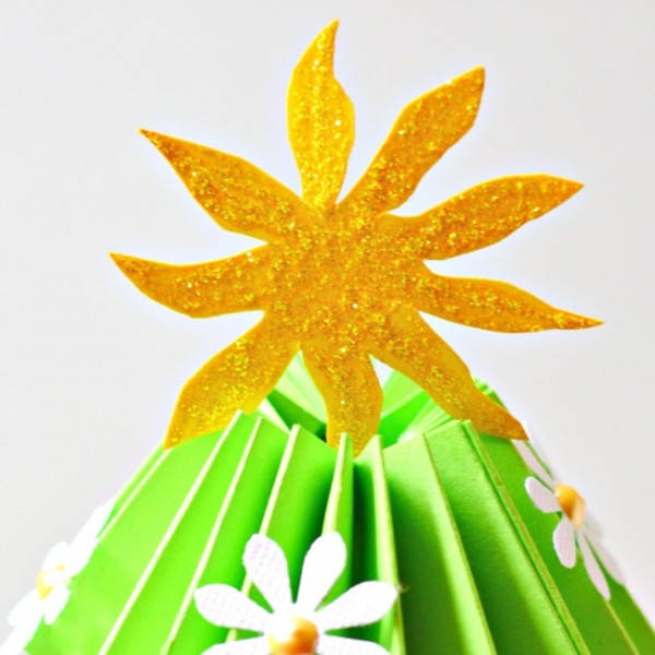 Make a Summer Kissed Pleated Paper Holiday Tree! It's Christmas in July at Little Miss Celebration!