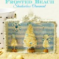 Christmas in July wraps up with a summer meets winter Frosted Beach Shadowbox Ornament! At littlemisscelebration.com
