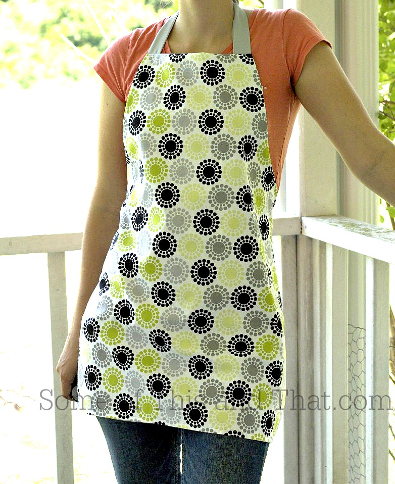 DIY Reversible Apron from Some of This and That
