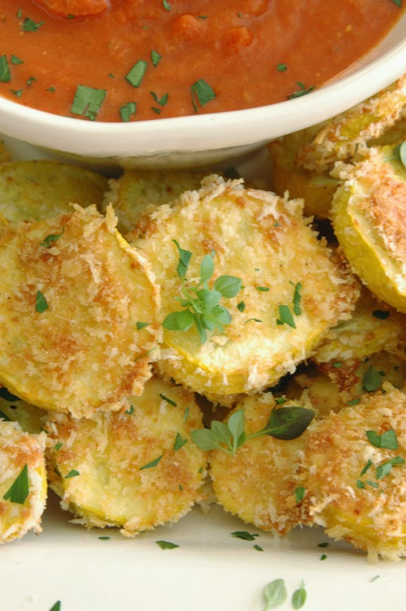 Baked Yellow Squash Rounds from Simply Suzanne's