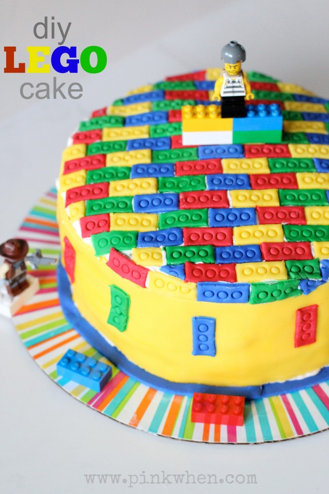 DIY LEGO Cake from PinkWhen