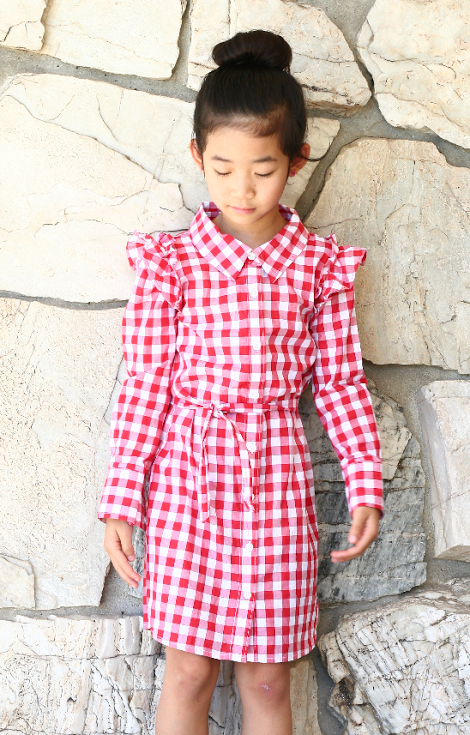 DIY:  Turn a XL Women's Shirt into A Girl's Dress from Life is Beautiful