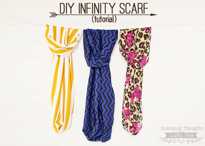 DIY Infinity Scarf Tutorial from Scattered Thoughts of a Crafty Mom