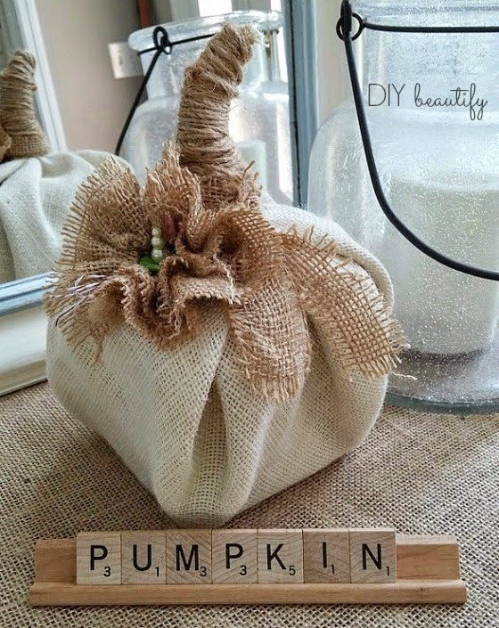 30 Minute or Less DIY Pumpkin from DIY Beautify