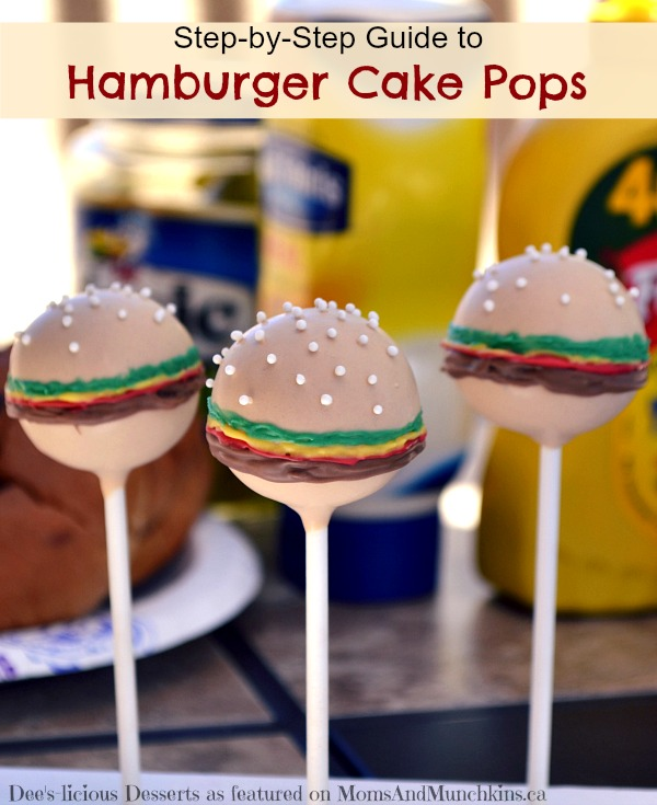 Step-by-Step Guide to Hamburger Cake Pops from Moms and Munchkins