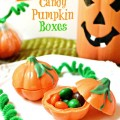 With Wilton's 3-D Pumpkin mold, it's easy to create edible, candy pumpkin boxes - great favors, too! At littlemisscelebration.com