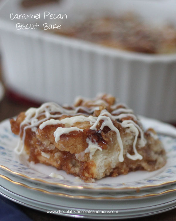 Caramel Pecan Biscuit Bake from Chocolate, Chocolate and More