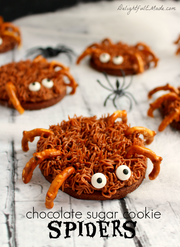 Chocolate Sugar Cookie Spiders by DelighfulEMade