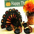 Add a little black & bling to the Thanksgiving table or buffet with easy, Bejeweled Chalkboard Turkeys! From littlemisscelebration.com