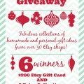 Kicking off the holiday gift giving season with an Etsy Holiday Giveaway! 5 Prize collections, $200 Etsy Gift Card, 6 Winners! At littlemisscelebration.com