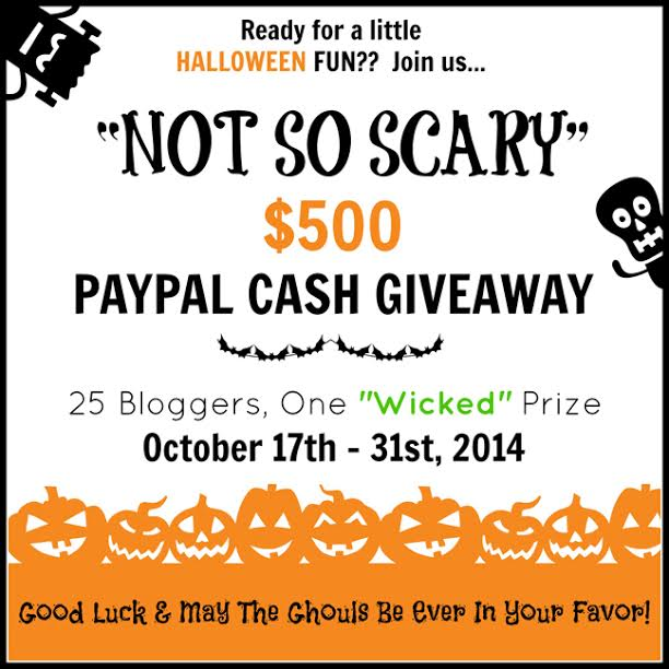 Not So Scary $500 Paypal Cash Giveaway at littlemisscelebration.com