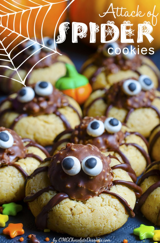Attack of Spider Cookies from OMG Chocolate Desserts