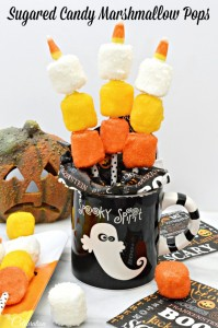 Sugared Candy Marshmallow Pops are a fast, fun holiday treat you can make in any colors! At littlemisscelebration.com