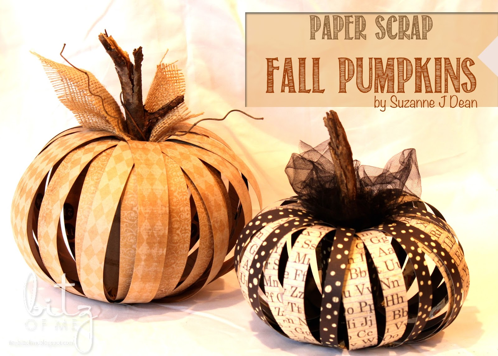 Paper Scrap Fall Pumpkins from Bitz of Me