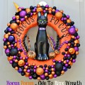 Big, bold & dimensional, this Hocus Pocus - Ode to Binx Wreath celebrates Halloween, a favorite movie & Binx! At littlemisscelebration.com