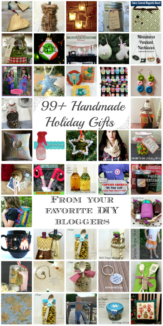 99 Handmade Holiday Gifts from your favorite DIY bloggers at littlemisscelebration.com