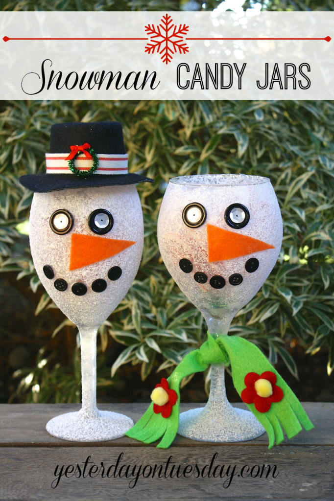 Snowman Candy Jar Gifts from Yesterday on Tuesday