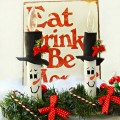 Breath new holiday life into old candles with adorable Snowman PVC Candle Covers! At littlemisscelebration.com #ChristmasCraft