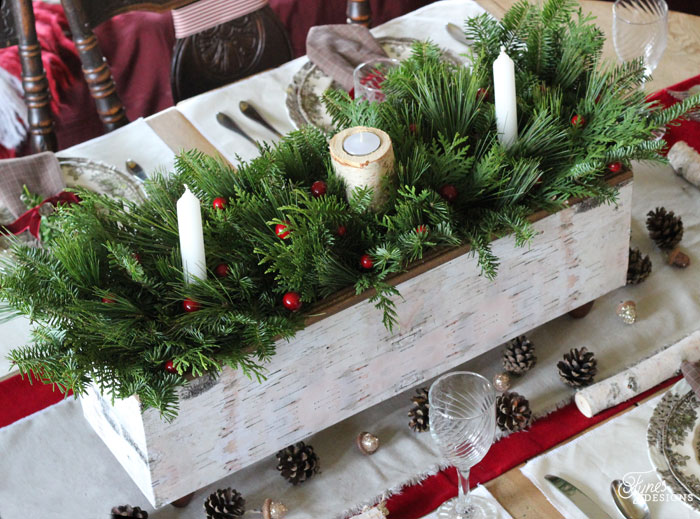 Birch Christmas Table Centerpiece from Fynes Designs
