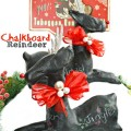 Paper Mache Chalkboard Reindeer - a classic holiday craft gets a modern twist! Keep one & give one as a gift! At littlemisscelebration.com