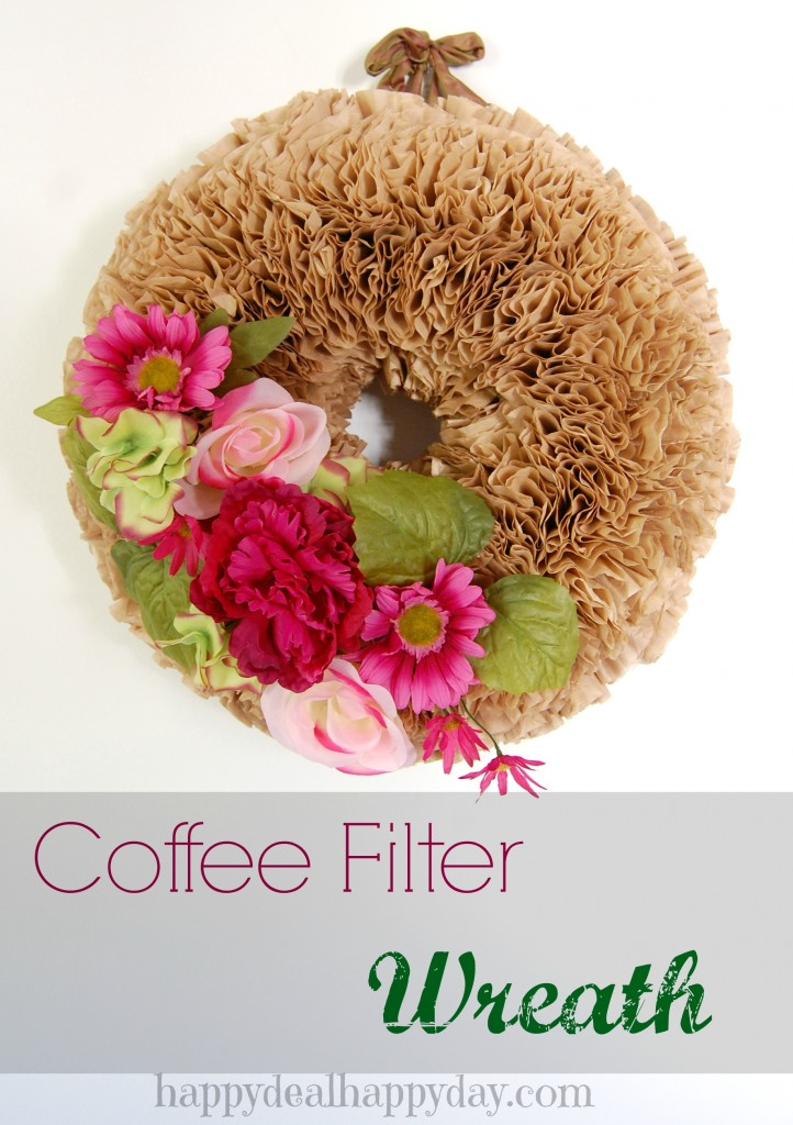 Coffee Filter Wreath from Happy Deal - Happy Day!