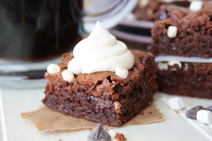 Hot Cocoa Cookie Bars with Marshmallow Frosting from Sunny Side Ups
