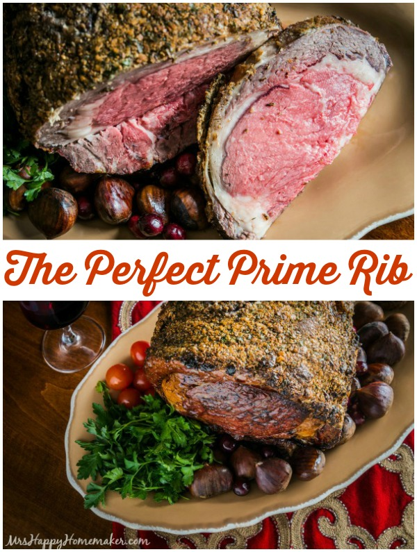 The Perfect Prime Rib from Mrs. Happy Homemaker