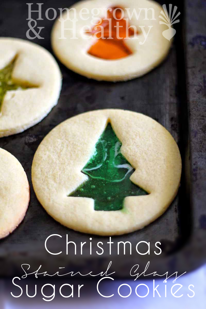 Christmas Stained Glass Sugar Cookies from Homegrown and Healthy