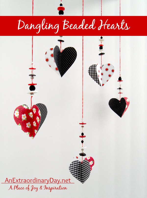 Easy DIY Dangling Beaded Hearts from An Extraordinary Day