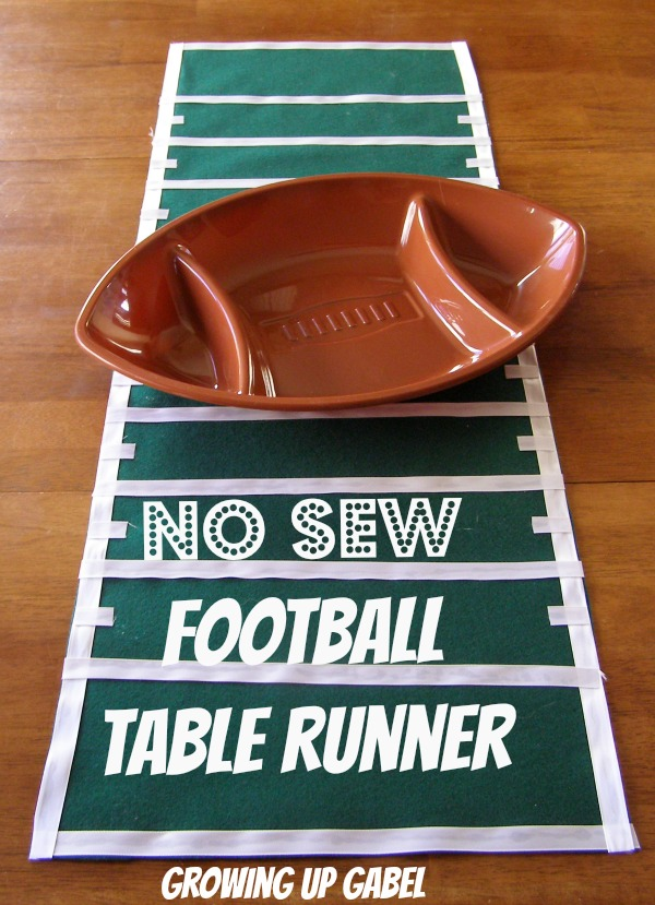 No Sew Football Field Table Runner from Growing Up Gable